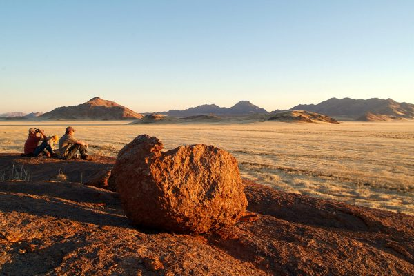 Nature walk at golden hour - at Wolwedans Dune Camp in Namibia