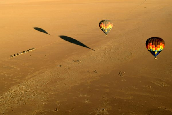 Hot air balloon at Wolwedans Dune Camp in Namibia