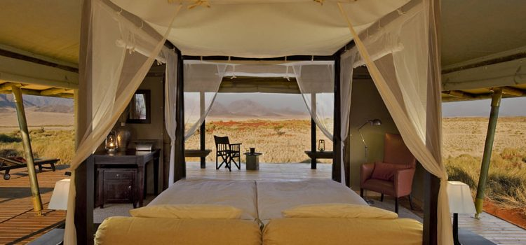 Guest tent at Wolwedans Dune Camp in Namibia - Southern Destinations