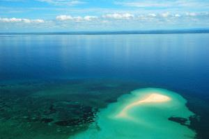 Mozambique Aerial sand bank and corals