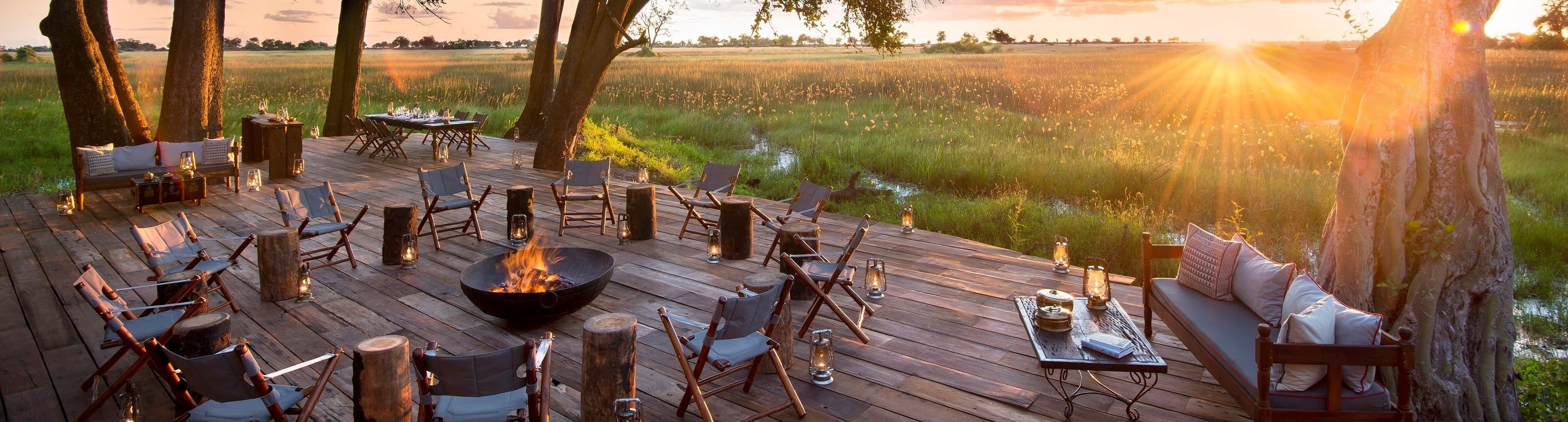 Located in the northern part of Botswana's famed Okavango Delta, Duba Plains lies just north of the Moremi Game Reserve. This exclusive Camp is located on a secluded island, only accessible by plane for most of the year.