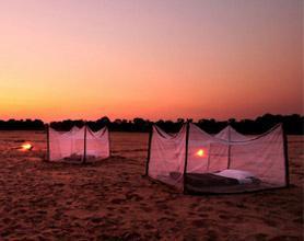 Luwi River sleepout twilight