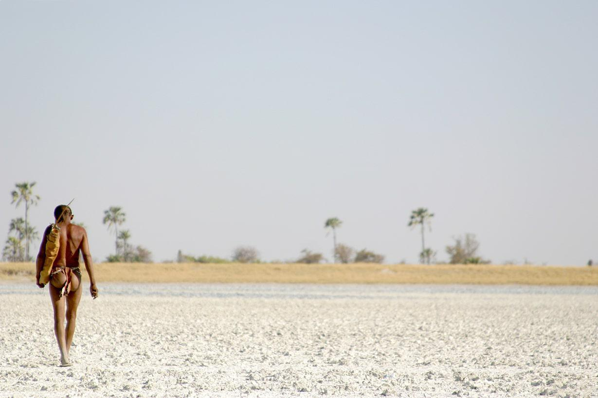 Uncharted Bushman Safari on to the salt pans of Kalahari