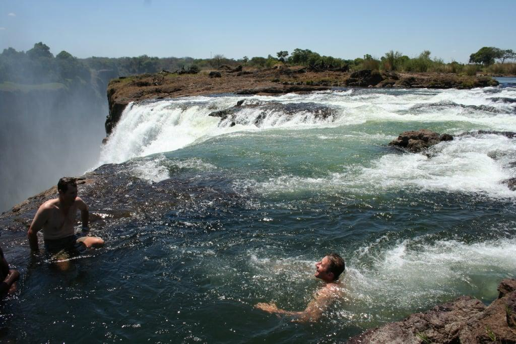 Devil's pool at Vic Falls