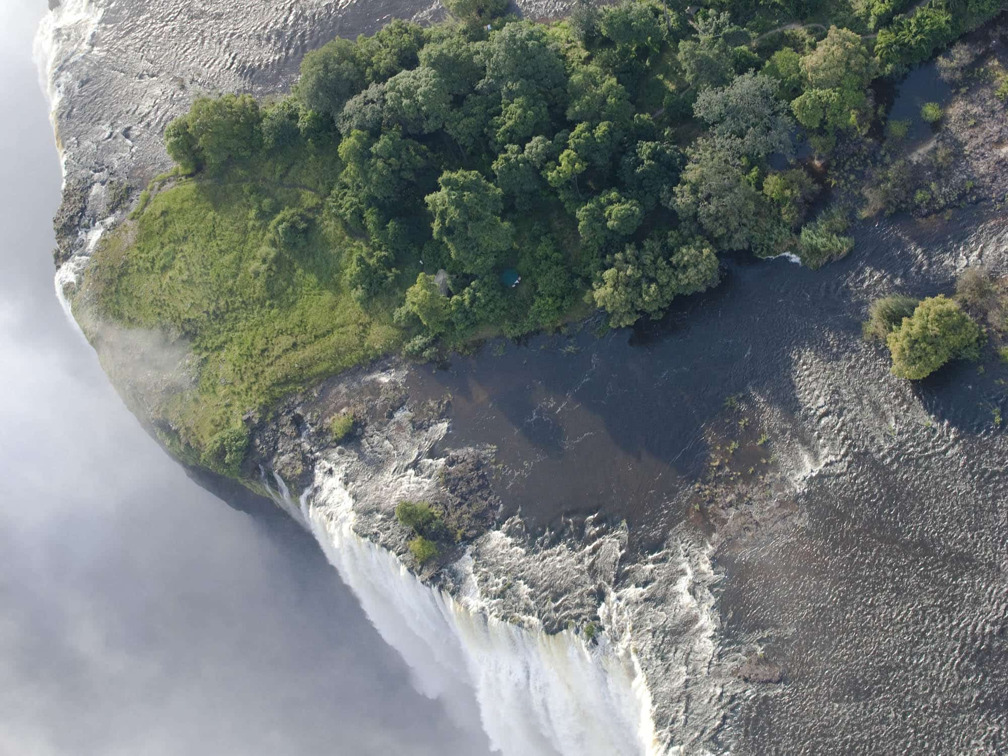 Livingstone Island at Victoria Falls, Zambia