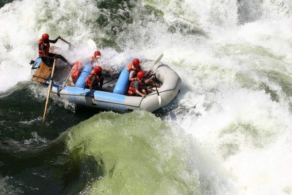 Whitewater rafting at Victoria Falls