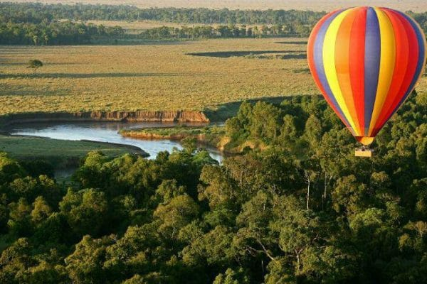 hot air balloon ride over Governors Camp