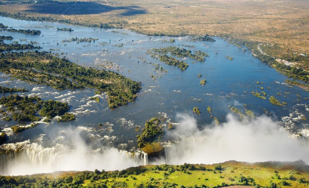 View over Victoria Falls