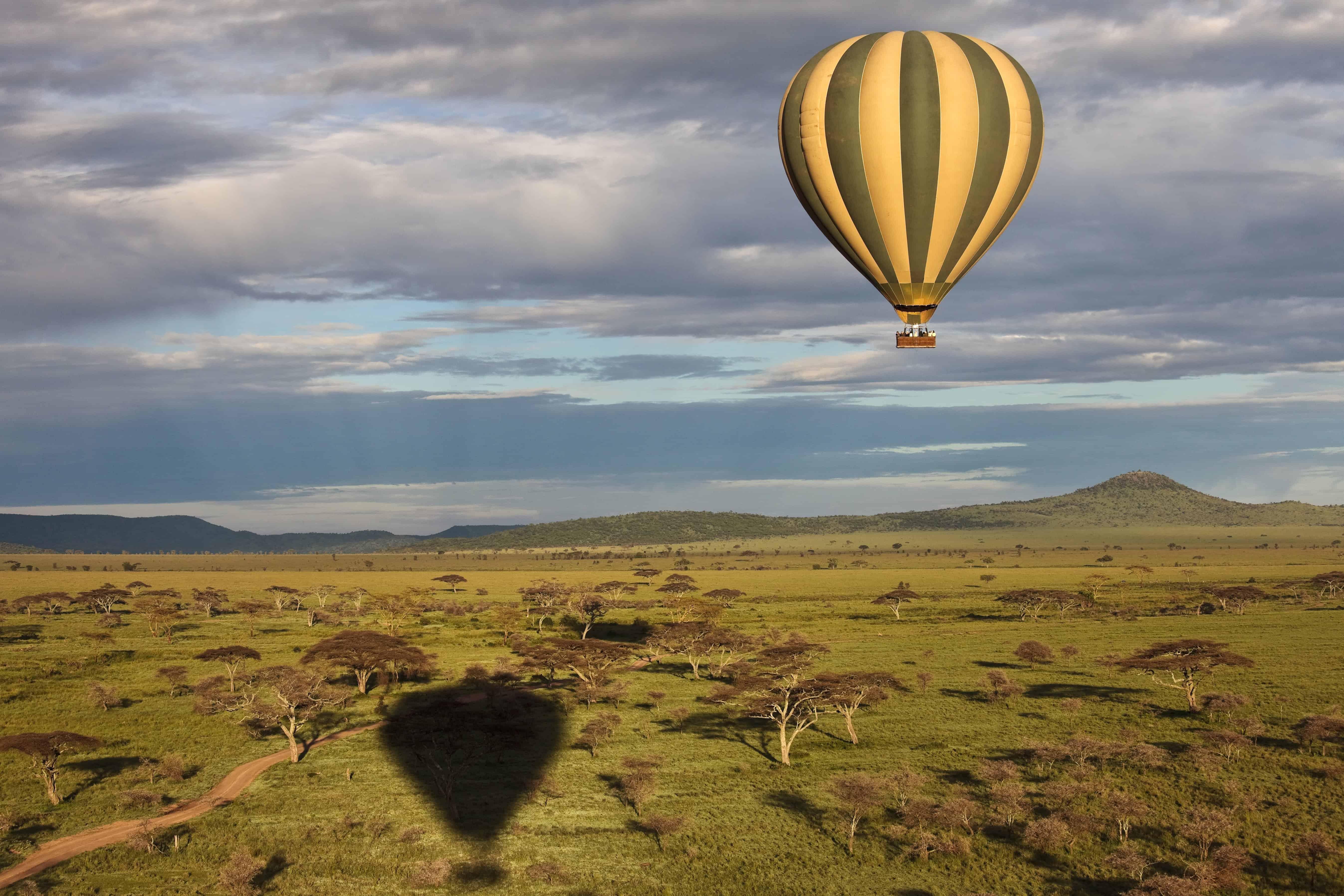 Hot air balloon over the Serengeti