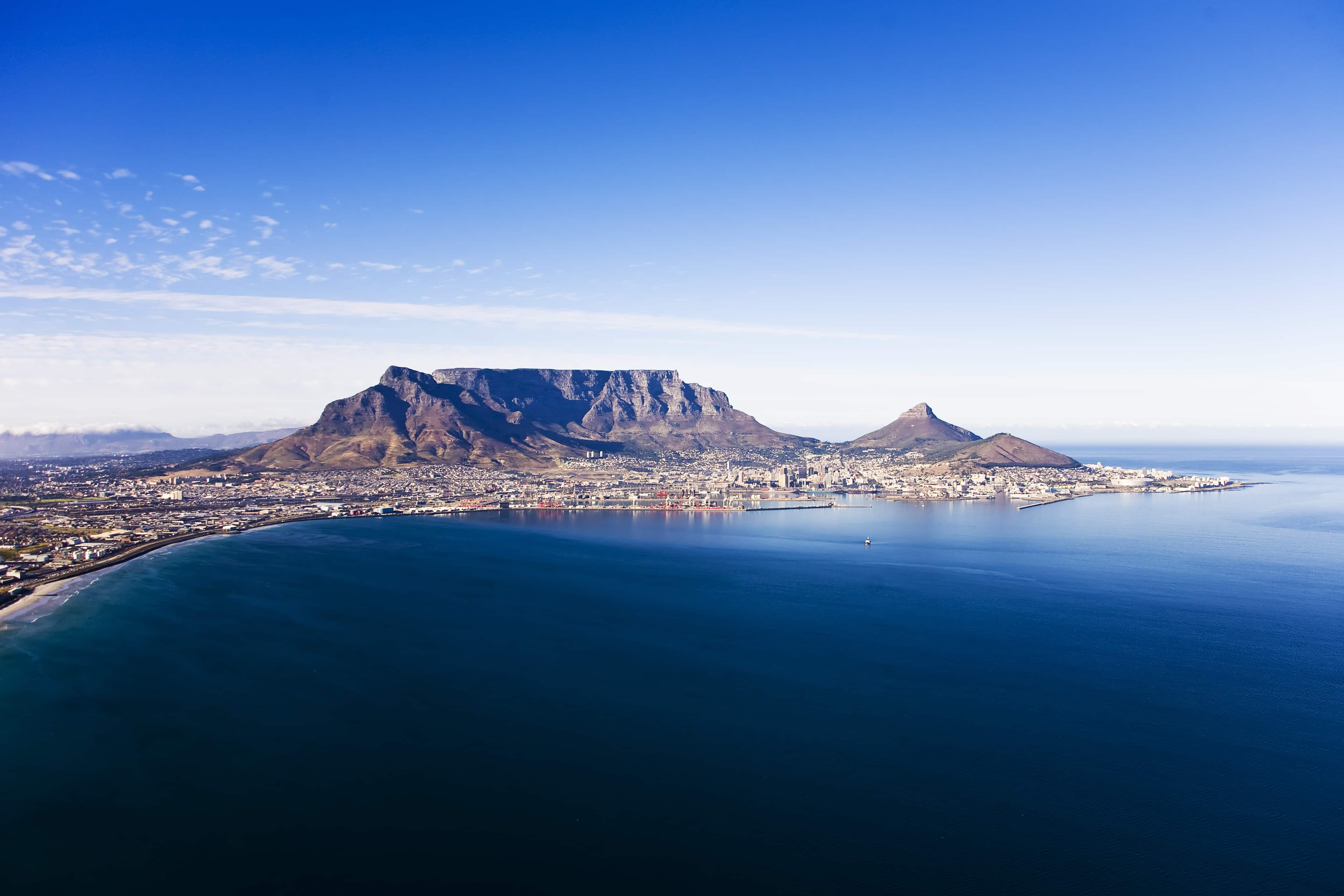 Aerial view over Cape Town
