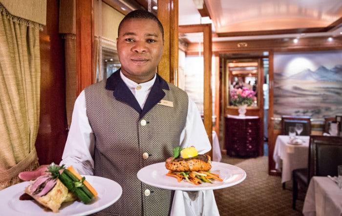 Blue Train cuisine