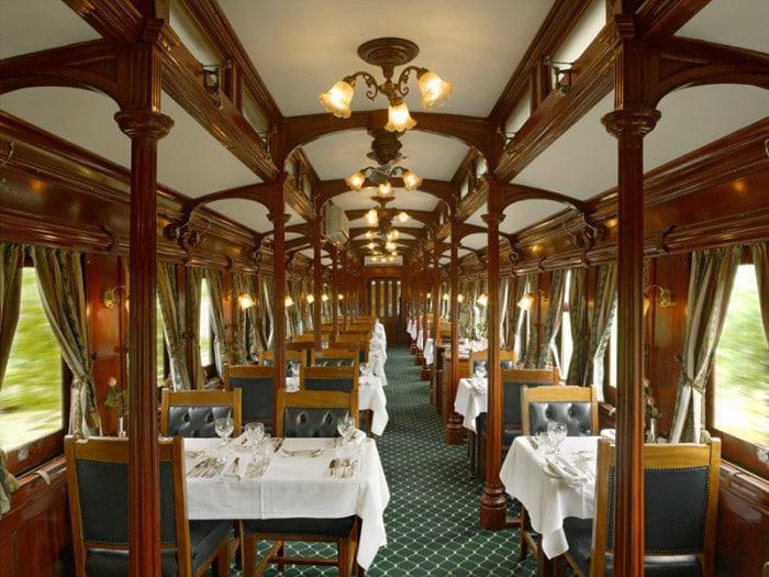 Rovos Rail dining