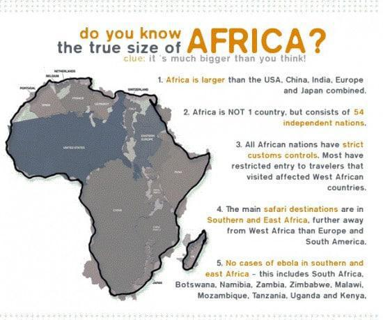 True size of Africa Infographic