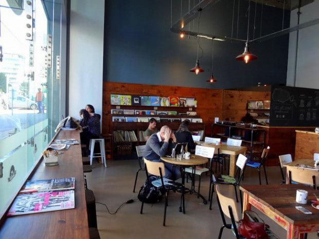 Freelancers at Hard Pressed Cafe