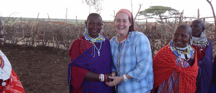 Crisney meeting the Maasai