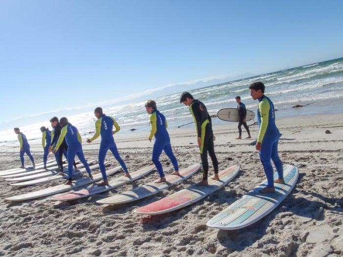 Garys Surf School at Muizenberg