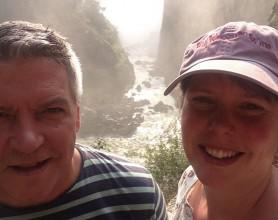lise and Dave vic falls (1)