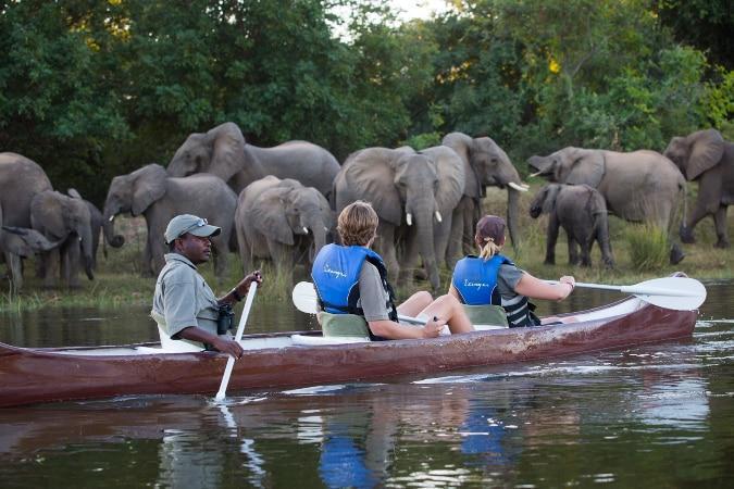 Kasaka River Lodge canoeing