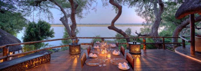 Kasaka River Lodge dinner