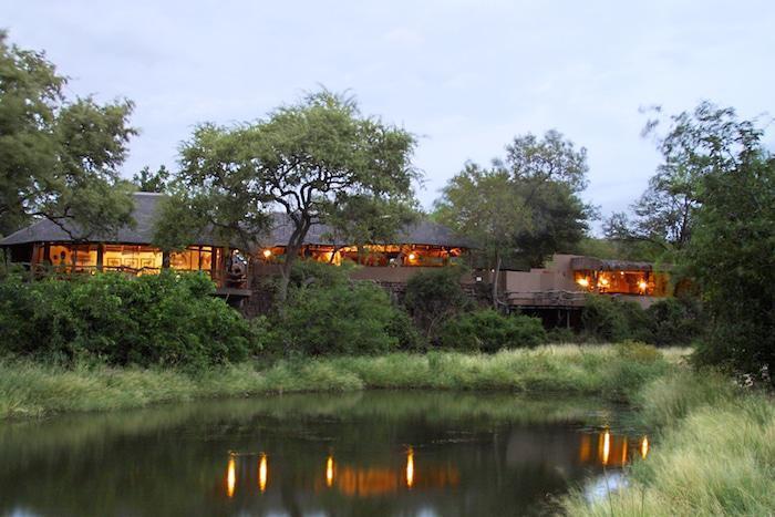 Mashatu Main Camp dining area, lounge and pub. Mashatu Game Reserve. Northern Thuli Block. Botswana.