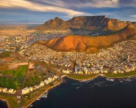 Cape Town areial shot