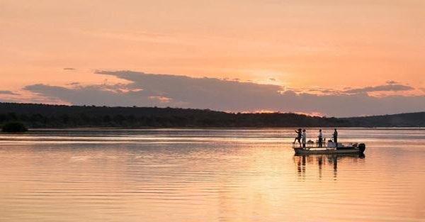 sunset cruise on zambezi river