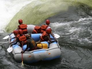whitewater rafting on the Zambezi
