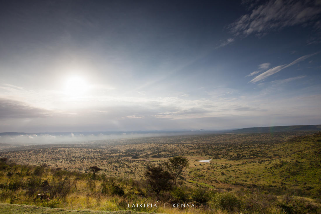 View out over the Loisaba Conservancy in Laikipia from Loisaba Tented