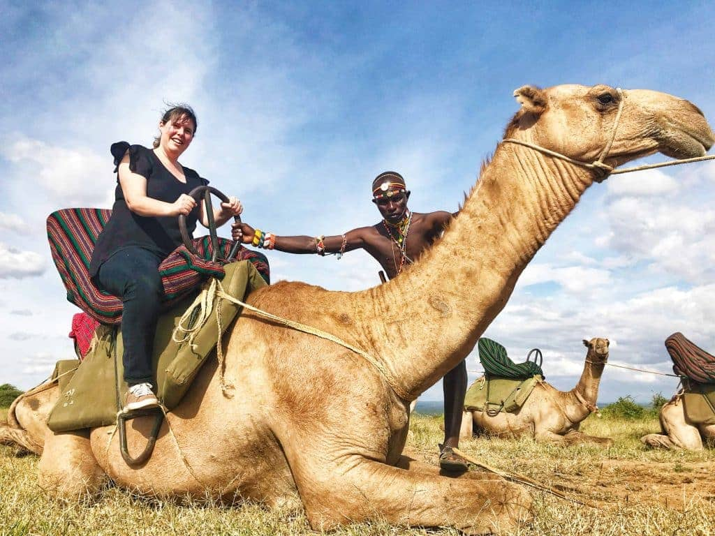 Camel-trekking through the Loisaba Conservancy is a bucketlist-must!