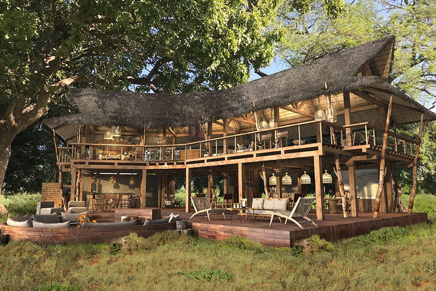 Nyamatusi Mahogany's main area with its wonderfully designed upstairs and downstairs lounges and dining areas make for an amazing base for this 'explorer's paradise'!