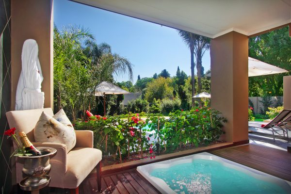 View from suite at The Residence - luxury boutique hotel in Houghton, Johannesburg