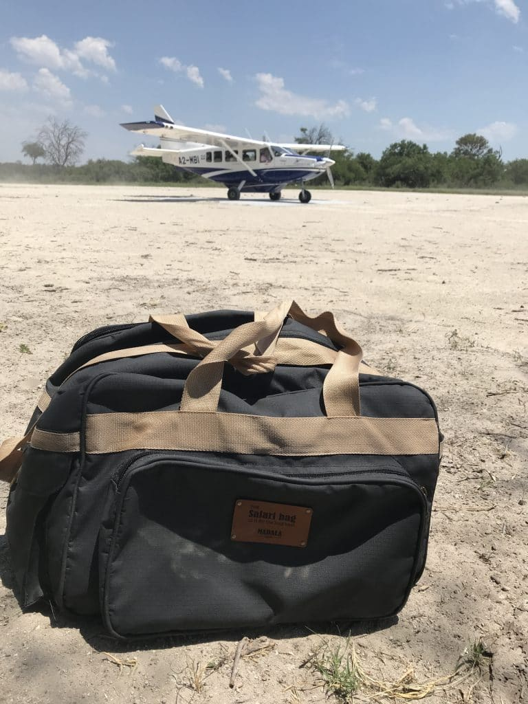 My Madala Safari Bag on the airstrip!