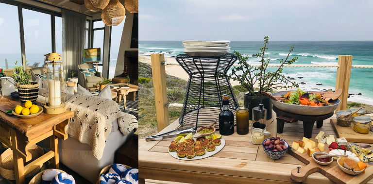 Lekkerwater Beach Lodge - interiors and alfresco brunch