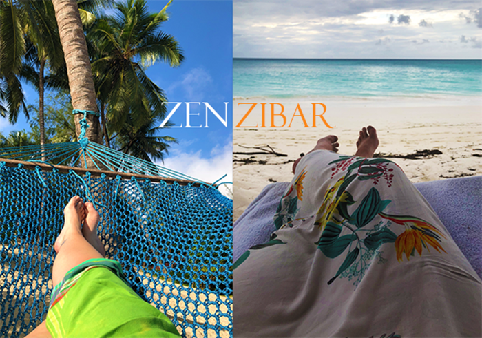 Many photos of our feet and the endless turquoise views beyond are testament to why I've given this island a new name: (Zen)zibar!