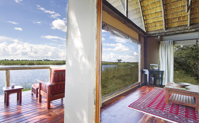 View from the deck at Kwando Lagoon Camp - with Southern Destinations