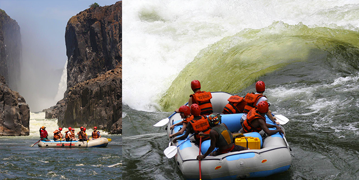 Whitewater rafting down the wild Zambezi is usually from July to December - and for daredevils only!
