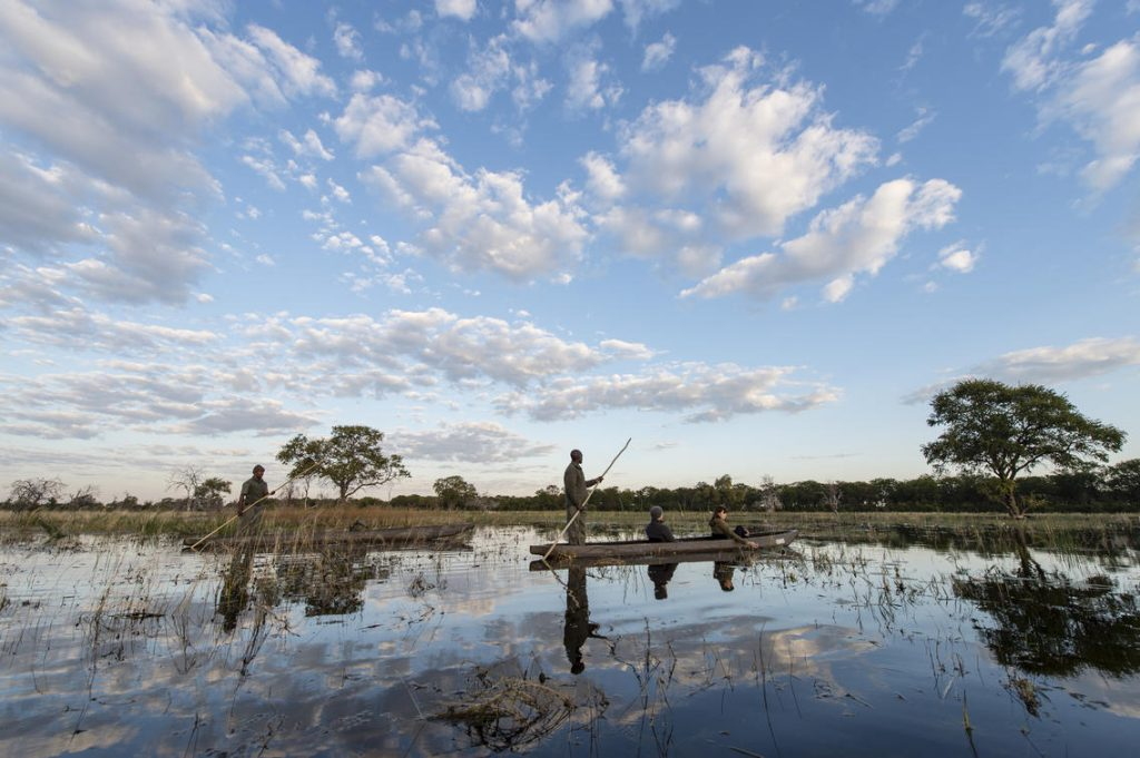 Mokoro along the waterways - Tuludi Camp in the Khwai, Botswana - by Natural Selection (Southern Destinations)