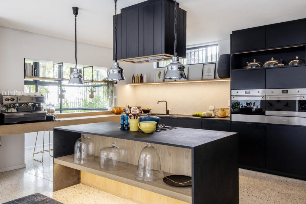 Open plan kitchen at Camissa House in Cape Town