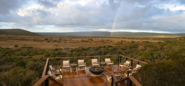 Sindile at Shamwari - sunset view from lookout deck - Southern Destinations