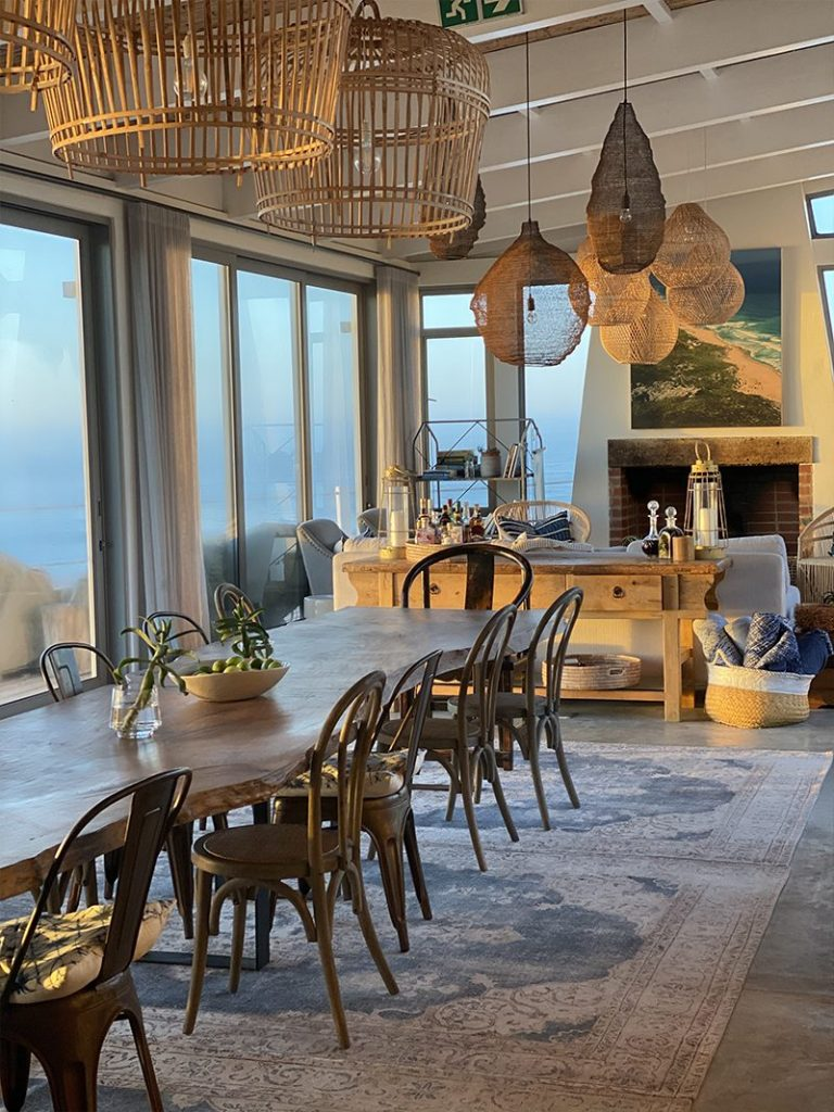Beautifully natural beachhouse decor at Lekkerwater Beach Lodge in South Africa - Southern Destinations